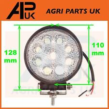 27W LED work Light Lamp 12V Flood Beam 24V Round Trailer Offroad 4X4 SUV 4WD JCB