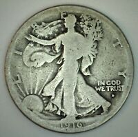 1916 D Walking Liberty Silver Half Dollar Coin 50c US Coin Good Fifty Cent Coin