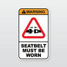 Machinery Safety Sticker: SEATBELT MUST BE WORN (Sumitomo, Yanmar, etc)