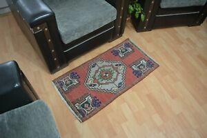 Bohemian Rug 2.8x1.6,Turkish Rug,Vintage Rug,Small Carpet,Antique Rug,Floor Rug.