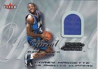 COREY MAGGETTE 00-01 FLEER FEEL THE GAME JERSEY BK4226