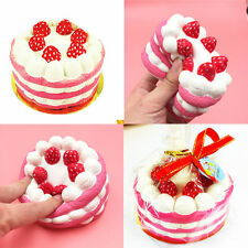 Cute 10CM Jumbo Squishy Strawberry Cake Scented Super Slow Rising Fun Kids Toy