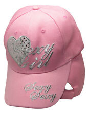 Sexy Girl Pink Heart Ladies Woman Embroidered Cap Hat RAM