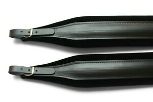Black Leather +Velvet Deluxe Italian Accordion Straps 304a Italcinte + BackStrap