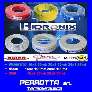 Rotolo 25/50METRI Tubo Multistrato Rivestito Sezione:16-20x2mm 26x3mm
