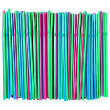 1000 x IKEA SODA Bendy Flexible Drinking Straws (Green/Blue/Pink)