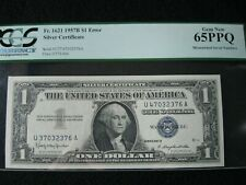 1957 B $1 Silver Certificate Mismatched Serial Numbers Pcgs 65Ppq