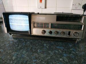 Vintage NEC TV-5500 Portable CRT TV Radio Tuner Cassette Player Working