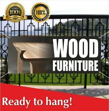Wood Furniture Banner Vinyl / Mesh Banner Sign store wood signs sofa chairs