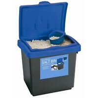 AMOS 30L 25kg Rock Salt Storage Bin Grit Spreading Plastic Box Container + Scoop