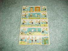 1927 Jack Dempsey v Gene Tunney Boxing Uncut Stamp Transfer Sheet