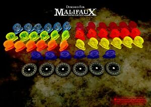 Faction Standee Toppers MAGNETIC (10 Pack) - MALIFAUX M3E - LASERFORGE