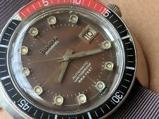 Vintage 1968 Bulova Snorkel Diver w/Tropical Chocolate Brown Dial,All SS Case