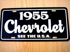 1955 Chevrolet license plate tag 55 Chevy sign Bel Air Nomad Corvette 210 Truck