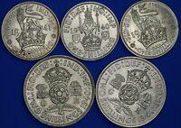1940 1941 George VI shillings & Two shillings, English Scottish [21973]