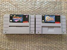 Soul Blazer + Illusion of Gaia (Super Nintendo, SNES) Carts Only - Authentic