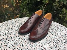 CLARKS - Barnard - Brown Leather - Lace Up - Brogue Shoes - UK 8.5 - New no Box