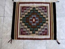 Auth.Native American Indian Navajo Intricate Pattern 100% Wool Rug/LaRose Bia