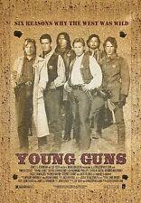 "wild west vintage YOUNG GUNS Silk Fabric Movie Poster  24""X36"" kiefer SUTHERLAND"