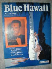 1929 BLUE HAWAII Waltz Song Vintage Sheet Music RAY TEAL by Baer, Caesar