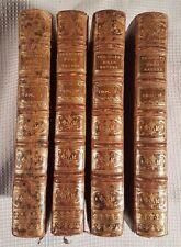 (4) ANTIQUE 1777~ FINE BINDINGS ~ PHILOSOPHIE NATURE ~ DELISLE DE SALES