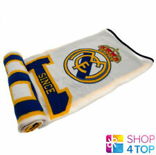 REAL MADRID FC FLEECE BLANKET COVER QUILT OFFICIAL FOOTBALL SOCCER CLUB TEAM NEW