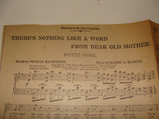 1894 Newspaper There's Nothing Like a Word From Dear Old Mother Maywhort Martin