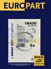 5 x PANASONIC Vacuum Cleaner Bags C-20 Type - MC-E800, MC-E850, MC-E851, MC-E852