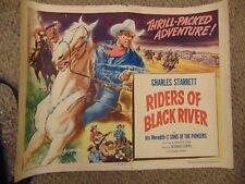 "Charles Starrett Riders Of Black River Original 22x28"" Poster #M7688"
