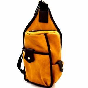 Unisex Multi-Pocket PU Leather Organizer Cross Body Sling Bag for Men and Women