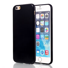 For iPhone 5s 6s 7 Plus Back Cover Slim Soft Gel TPU Silicon Glossy Phone Case