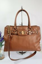 "MICHAEL KORS ""Hamilton"" Multiway Shoulder Satchel Bag Large Tan Leather"