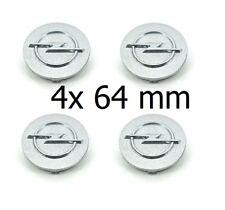 4x 64mm OPEL Silber Nabendeckel Felgendeckel Nabenkappen Emblem  Silver