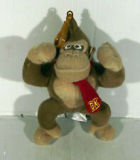 "7"" DONKEY KONG SOFT TOY PLUSH WITH DOG CLIP BAG HANGER"