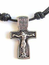 Handmade Orthodox Pendant Necklace Stainless Steel Cross 50 2 Sided