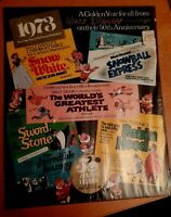 Small Vintage Collectable Poster Wat Disney 50 Year Anniversary 1973 VGC