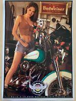 2000 Budweiser Bike Week Daytona Poster--Girl, Motorcycle, Beer