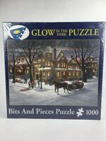 Victorian Christmas Glow in the Dark Jigsaw Puzzle 1000 Piece Bits & Pieces NEW