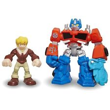 Playskool Heroes Transformers Rescue Bots OPTIMUS PRIME & CODY BURNS Figures