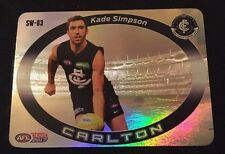 2017 AFL Team Coach Star Wildcard KADE SIMPSON Carlton Card SW-03