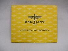 BREITLING A13035 CROSSWIND Chrono Colt Watch Warranty Certificate & Service Book