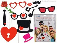 Wedding Photo Booth Props Glasses Heart Lips Pipe Rose Key Funny Hen Stag Party