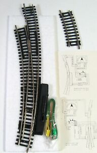 #4 REMOTE CONTROL CURVED LEFT HAND TURNOUT Nickel Silver  HO Scale