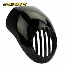 "Black Front Visor Prisoner Bikini Headlight Fairing For Motorcycle 5 3/4""Cut Out"