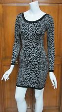 French Connection Animal Print Black & Gray Sweater Mini Dress NWT Sz 6 $118
