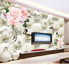 3D Wallpaper Bedroom Mural Roll Modern Luxury Embossed flowers Background