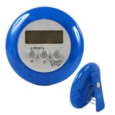 Blue Digital Kitchen Timer Magnetic Clip Chef Restaurant Count Down Stopwatch