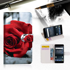 Blooming Rose Wallet Case Cover For Nokia 5 -- A011