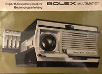 Manual, Gebrauchsanleitung für S8, N8, 16 mm + 35 mm Kameras + Projektoren