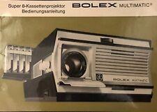 Manual, Manuale d'uso per s8, n8, 16 mm + 35 mm Telecamere + proiettori